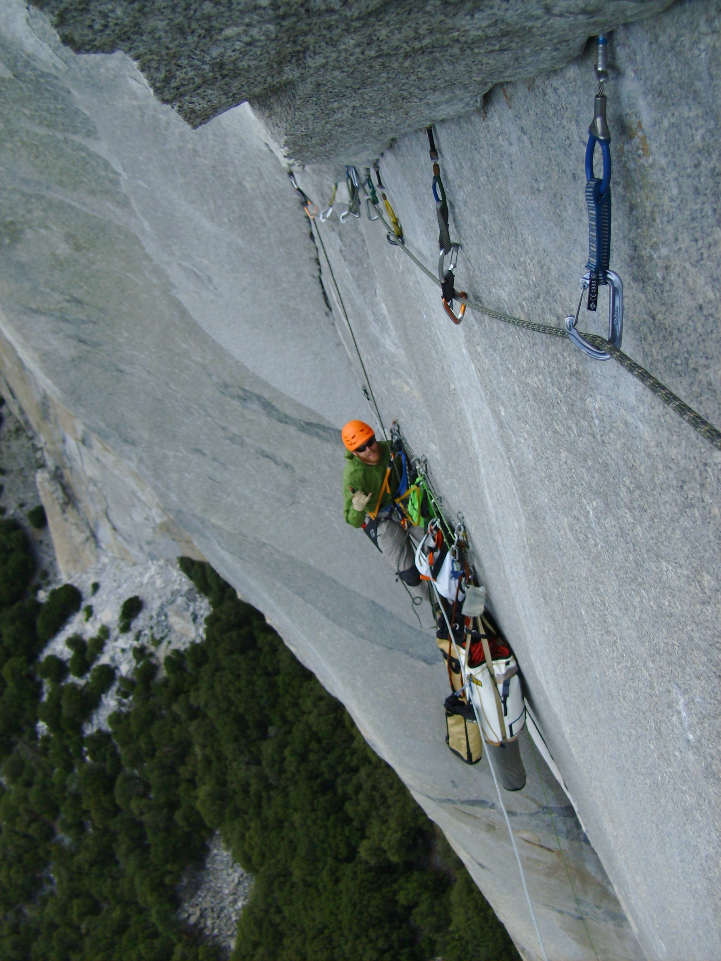 "Yosemite Bigwalls refers to this pitch as ""wild""  Nipple Pitch C3"